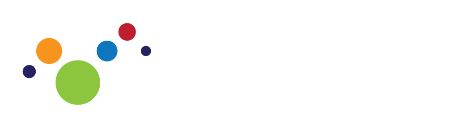colored dots white logo