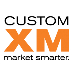 CustomXM logo stacked